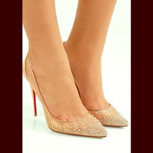 Christian Louboutin Follies Crystal & Mesh Pumps